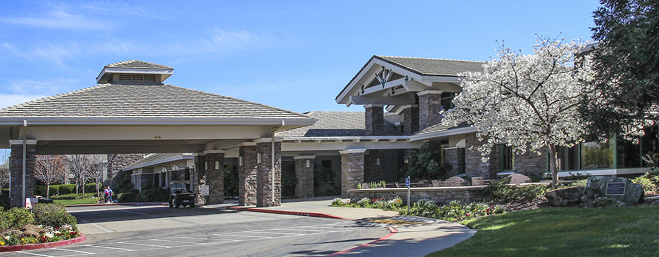 Entry view of Sun City Roseville Lodge